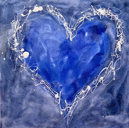 A Heart Felt Blues – Mixed Media