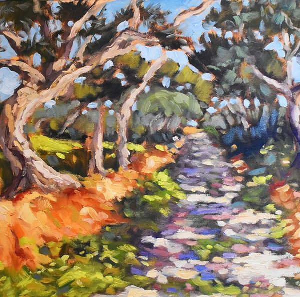 WILLSIE-ANN_-_Country_Lane_Shadows_-_12_x_16_oil_on_panel