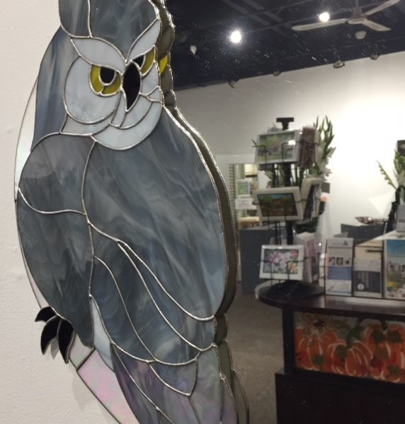 Terry Dunstan Stained Glass Owl