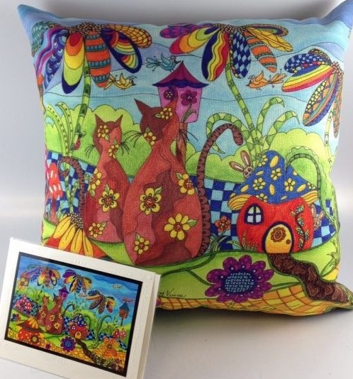 Pillow and card square